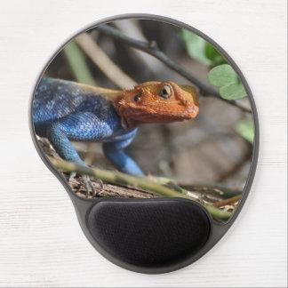 Cojín de ratón del lagarto del arco iris alfombrilla con gel