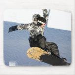 Cojín de ratón del lanzamiento de la snowboard tapete de ratón