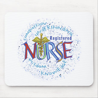 Cojín de ratón del lema de la enfermera tapetes de ratones
