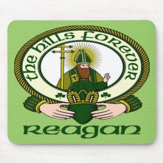 Cojín de ratón del lema del clan de Reagan Alfombrillas De Ratones