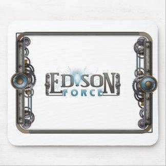 Cojín de ratón del logotipo de la fuerza de Edison Tapetes De Ratones