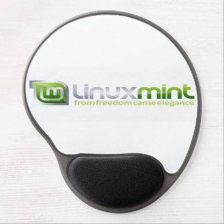 Cojín de ratón del logotipo de la menta de Linux Alfombrillas De Ratón Con Gel