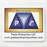 Cojín de ratón del logotipo de Peele Enteprises Tapetes De Ratones