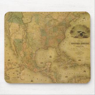 Cojín de ratón del mapa de los E E U U Tapetes De Raton