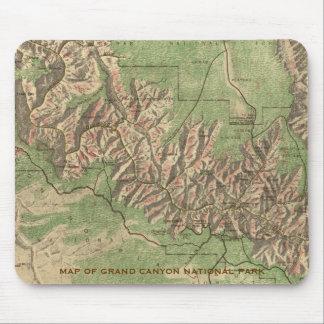 Cojín de ratón del mapa del Gran Cañón Alfombrillas De Raton