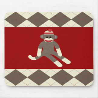 Cojín de ratón del mono del calcetín mouse pad