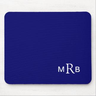 Cojín de ratón del monograma con sus iniciales (az mouse pads
