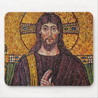 Cojín de ratón del mosaico de Jesús Alfombrillas De Ratón
