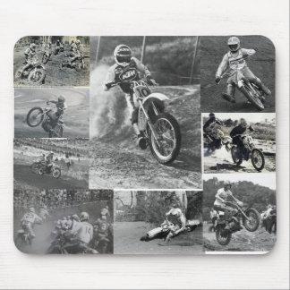 Cojín de ratón del motocrós de la escuela vieja alfombrillas de raton