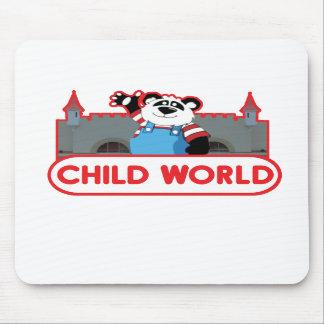 Cojín de ratón del mundo del niño tapete de raton