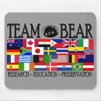 Cojín de ratón del mundo del oso del equipo tapetes de raton