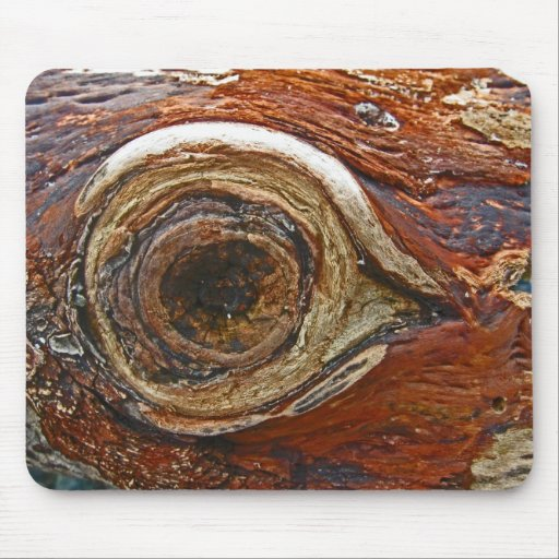 Cojín de ratón del ojo del Driftwood Tapetes De Ratones