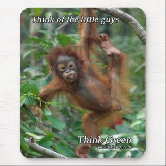 Cojín de ratón del orangután del bebé tapetes de ratón