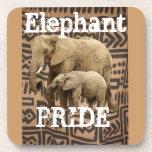 Cojín de ratón del orgullo del elefante posavasos de bebidas