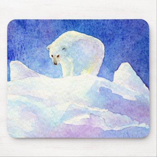 Cojín de ratón del oso polar tapetes de raton