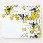 Cojín de ratón del panal de la abeja de la miel tapetes de ratones