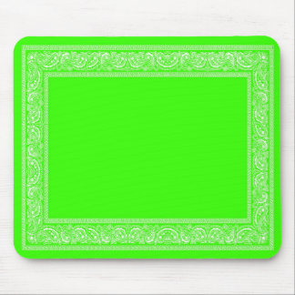 Cojín de ratón del pañuelo de Paisley de la verde  Tapete De Raton