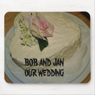 Cojín de ratón del pastel de bodas tapete de ratón