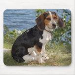 Cojín de ratón del perro de perrito del beagle del alfombrillas de raton