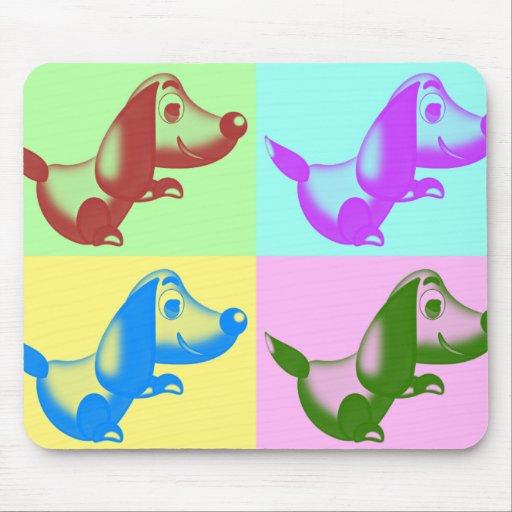 Cojín de ratón del perro del dibujo animado del ar alfombrilla de ratones