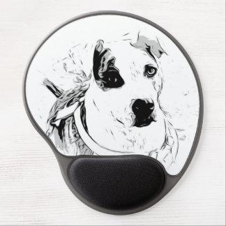 Cojín de ratón del perro del rescate alfombrilla gel