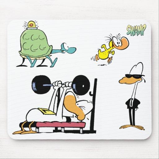 Cojín de ratón del personaje de dibujos animados d alfombrillas de raton
