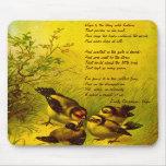 "Cojín de ratón del poema de la ""esperanza"" de Emil Tapete De Ratón"