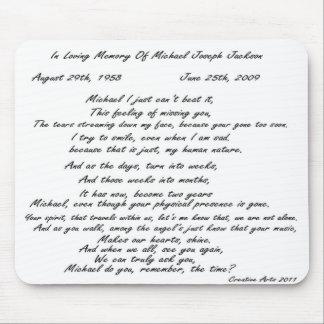 Cojín de ratón del poema de las memorias tapetes de raton
