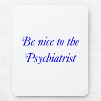 Cojín de ratón del psiquiatra tapetes de raton