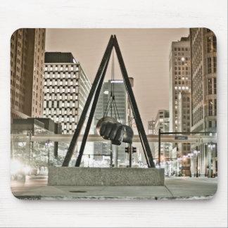 Cojín de ratón del puño de Detroit Joe Louis Alfombrillas De Raton