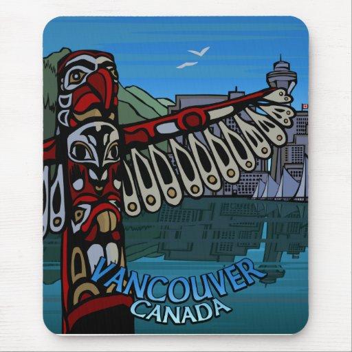 Cojín de ratón del recuerdo de Vancouver Canadá Tapetes De Raton