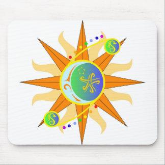 Cojín de ratón del resumen de Sacandaga Sun Alfombrillas De Ratones