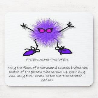 Cojín de ratón del rezo de la amistad tapetes de ratones