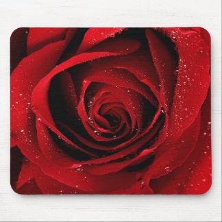 Cojín de ratón del rosa rojo alfombrilla de ratones