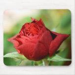 Cojín de ratón del rosa rojo tapetes de ratón