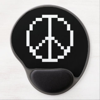 Cojín de ratón del signo de la paz del pixel alfombrilla de ratón con gel