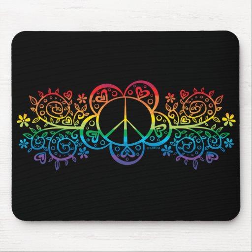 Cojín de ratón del signo de la paz mouse pads