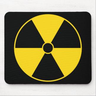 Cojín de ratón del símbolo de la radiación alfombrilla de ratones
