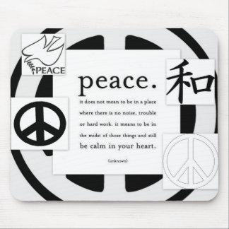 Cojín de ratón del símbolo de paz alfombrillas de raton