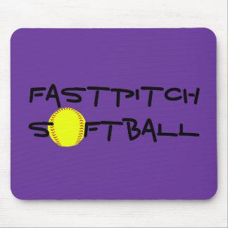 Cojín de ratón del softball de Fastpitch Mouse Pads
