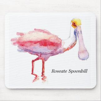 Cojín de ratón del Spoonbill rosado Tapete De Ratones