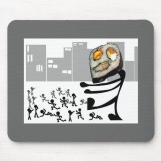 Cojín de ratón del sushi del monstruo alfombrilla de ratón