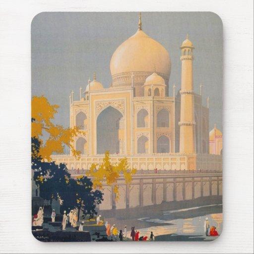 Cojín de ratón del Taj Mahal Tapetes De Ratones