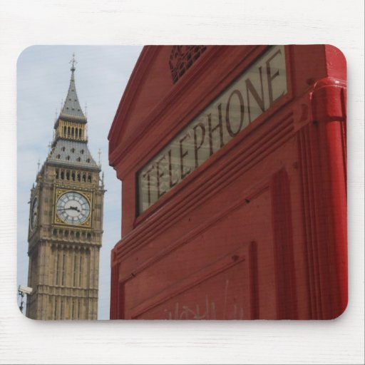 Cojín de ratón del teléfono de Big Ben Tapetes De Raton