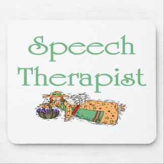 Cojín de ratón del terapeuta de discurso con ángel tapetes de ratón