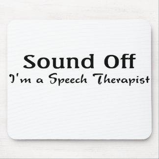 Cojín de ratón del terapeuta de discurso tapetes de ratones