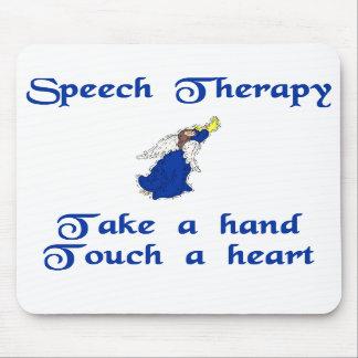 Cojín de ratón del terapeuta de discurso alfombrillas de ratón