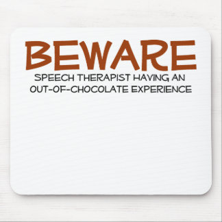 Cojín de ratón del terapeuta de discurso alfombrilla de ratón