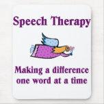 Cojín de ratón del terapeuta de discurso alfombrilla de raton