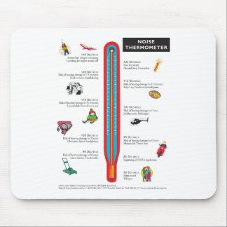 Cojín de ratón del termómetro del ruido tapete de raton